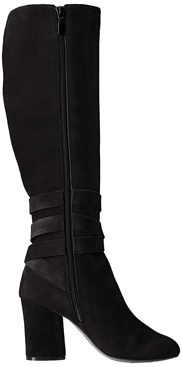 The Fix Women's Nia Knee-High Ankle Tie Boot B072V7N7XL 6 M US|Black Suede