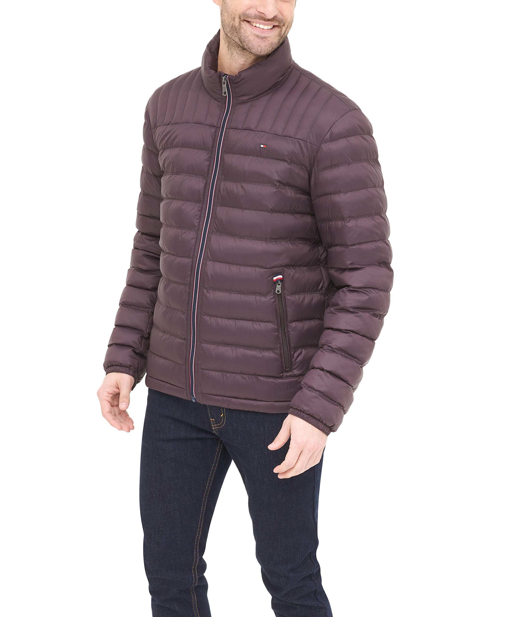 Tommy Hilfiger Men's Ultra Loft Packable Puffer Jacket, Port, Large