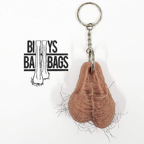 Llavero del llavero de las nueces de béisbol del testic por BILLYSBALLBAGS