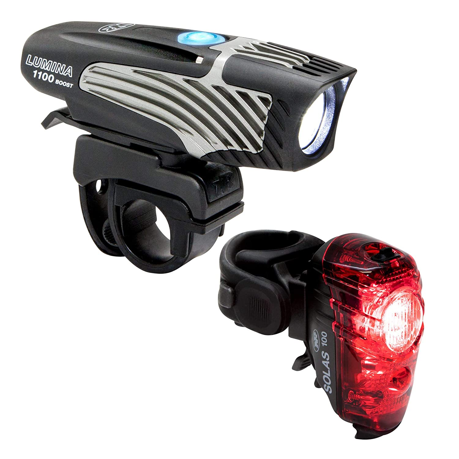 NiteRider 6776 Lumina 1100 Boost Solas 100 Combo Bike Headlight Taillight