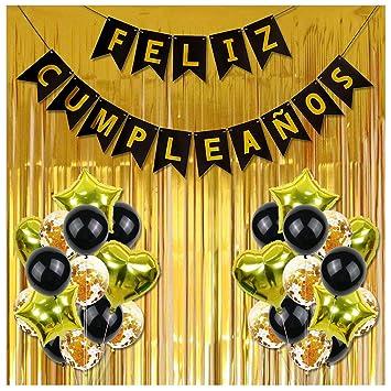 Beetest ES Feliz CumpleañOs decoración, 30 Piezas de Happy ...