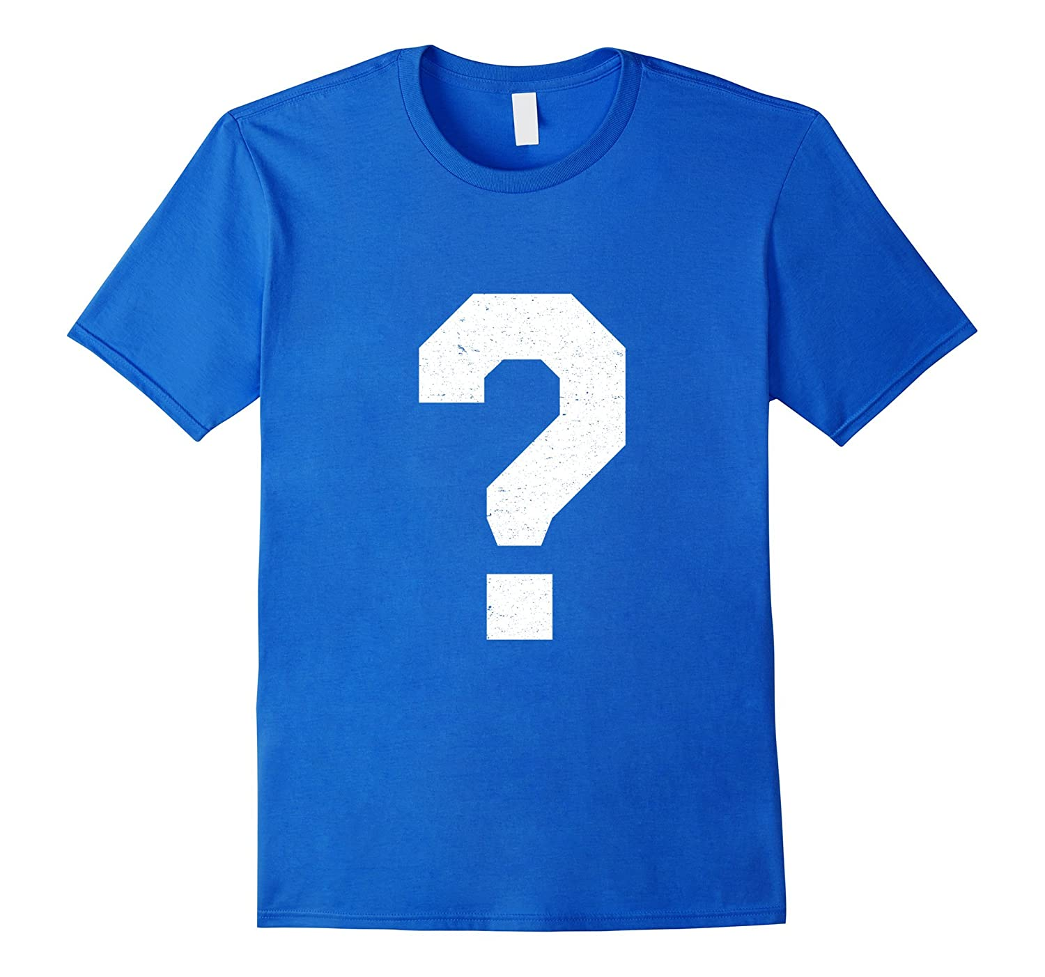 ?: Question Mark Monogram Initial Spelling Tee Shirt-TH