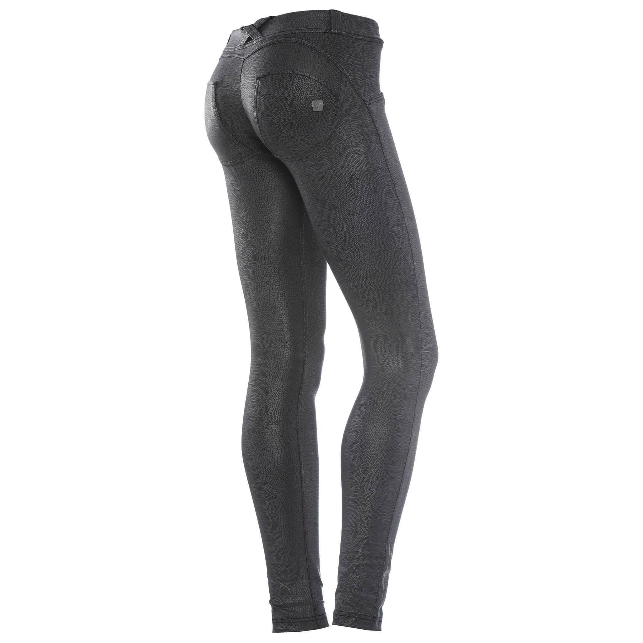WR.UP PYTHON BLK LEATHER EFFECT SKINNY