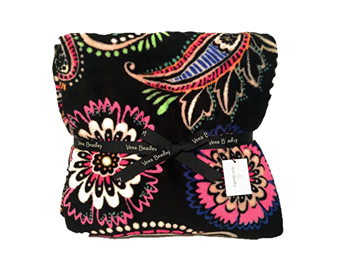 Amazon.com  Vera Bradley Throw Blanket - Bandana Swirl - NWT  Home ... 3e5dddb01e