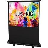 """Duronic FPS60 /43 schermo di proiezione 80"""" formato 4:3/122 X 91 cm - telo proiettore retrattile auto-portante per videoproiettore Full HD 3D 4K - Home cinema home theater ufficio"""