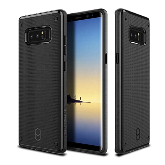 various colors bd946 ea80f Patchworks Galaxy Note 8 Case Patchworks Flexguard Series in Black, Slim  Fit Protective Case Extreme Cover with Poron XRD