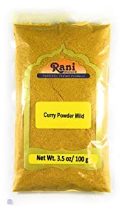 Rani Curry Powder Mild Natural 10-Spice Blend 100g (3.5oz) ~ Salt Free | Vegan | No Colors | Gluten Free Ingredients | NON-GMO | NO Chili or Peppers
