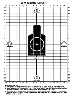 Amazoncom Improved M4 Ar15 M16a2 25 Meter Zeroing Targets