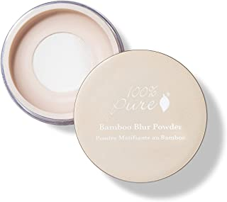 product image for 100% PURE Bamboo Blur Powder, Translucent, Setting Powder, Loose Face Powder for Setting Makeup, Lightweight, Long Lasting Face Makeup, Vegan Makeup - 0.2 Oz