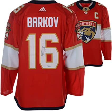 competitive price 59a49 d628a Aleksander Barkov Florida Panthers Autographed Red Adidas ...