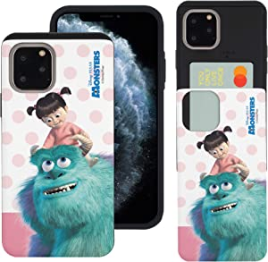 WiLLBee Compatible with iPhone 12 Pro Case/Compatible with iPhone 12 Case (6.1inch) Monsters University inc Slim Slider Cover : Card Slot Dual Layer Holder Bumper - Movie Boo