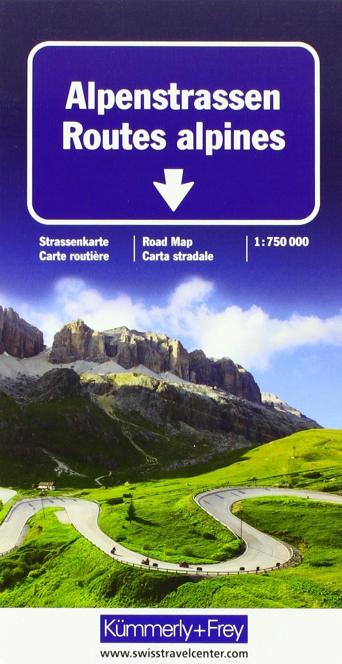 Alpenstrassen Strassenkarte: Massstab 1:750 000 (Kümmerly+Frey Strassenkarten) (Englisch) Landkarte – Folded Map, 17. August 2017 Hallwag Kümmerly+Frey AG Kümmerly + Frey 3259018050 Karten / Stadtpläne / Europa