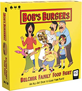 USAOPOLY Bob's Burgers: Belcher Family Food Fight Board Game | Fast-Paced Dice Game to Clear Your Plate | Featuring Custom Bobs Burgers Artwork from Fox Animation Studios
