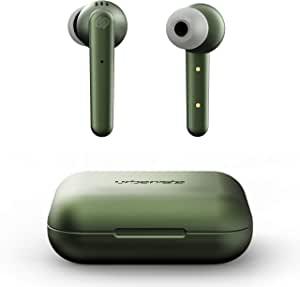Urbanista Paris True Wireless Earphones 20H Playtime Wireless Charging Case and Bluetooth 5.0, Noise Cancelling Earphones with Touch Controls + Built-in Mic, Compatible with Android and iOS - Green