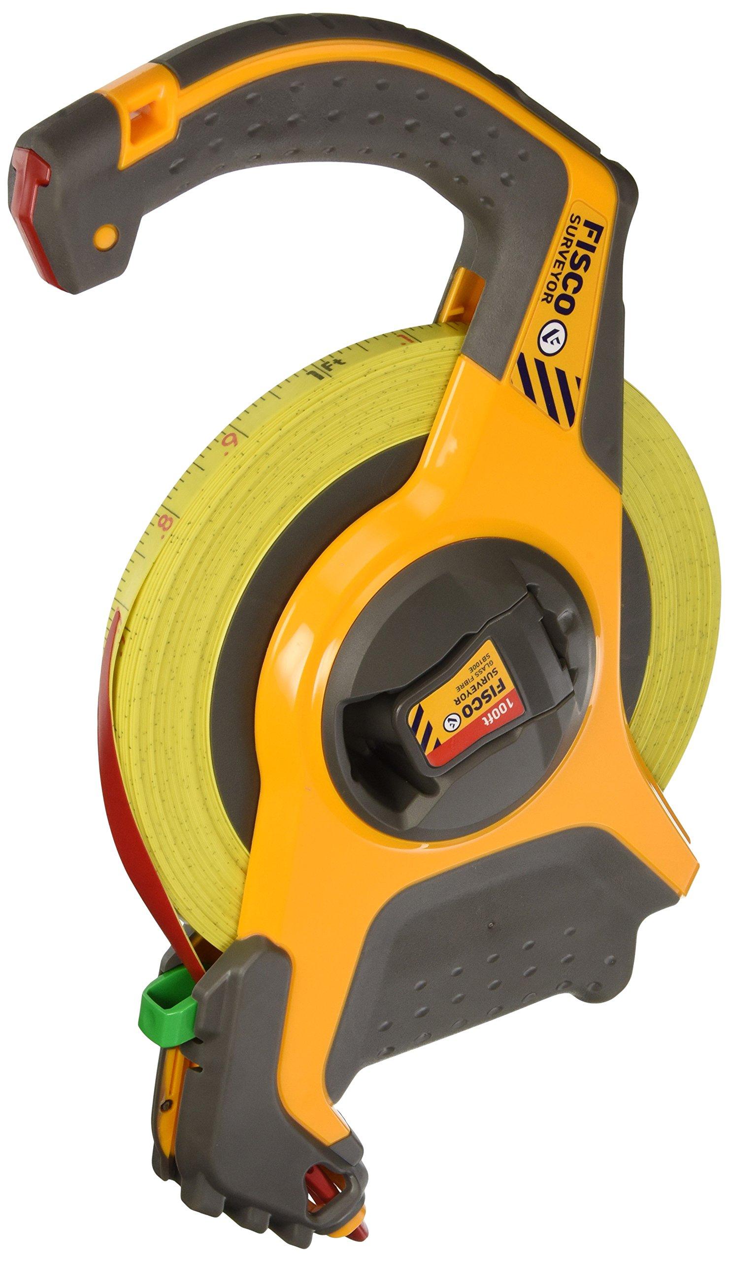 Fisco Tools SB100E Surveyor-Feets Fiberglass Long Tape, 1/2-Inch by 100-Feet