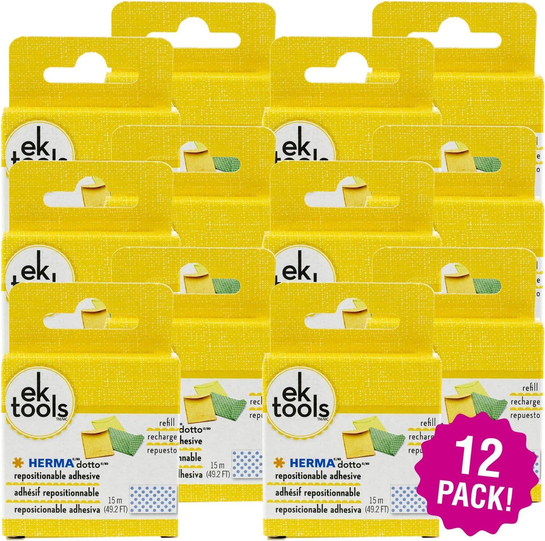 EK Tools Herma Dotto Repositionable Adhesive Refill 12//Pkg 12 Pack