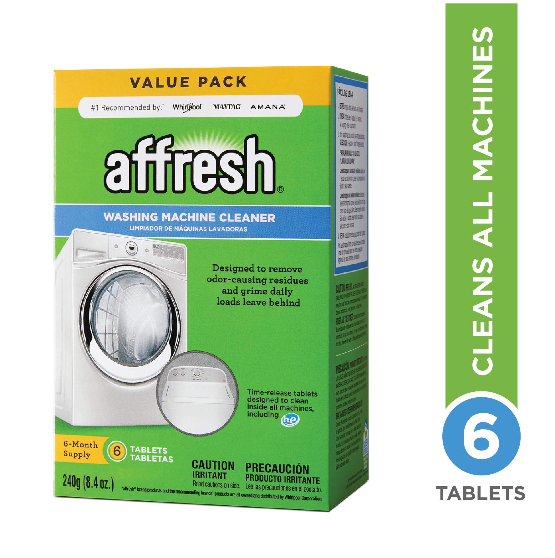 Finally Fresh Washer Machine Cleaner 6 Tablets, White, 6 ...