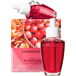 Bath and Body Works New Look! FARMSTAND APPLE Wallflowers 2-Pack Refills (2018 Edition)