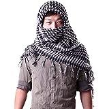Sri Belha Fashions Viscose Military Army Headscarf Breathable Neckerchief Scarf Stole (SBF-2361, Multicolour, XL)