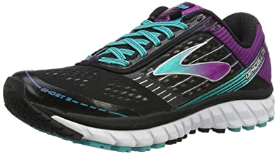 0d20dbf9dc87 Brooks Women s Ghost 9 Black Sparkling Grape Ceramic Running shoes - 5.5 B(