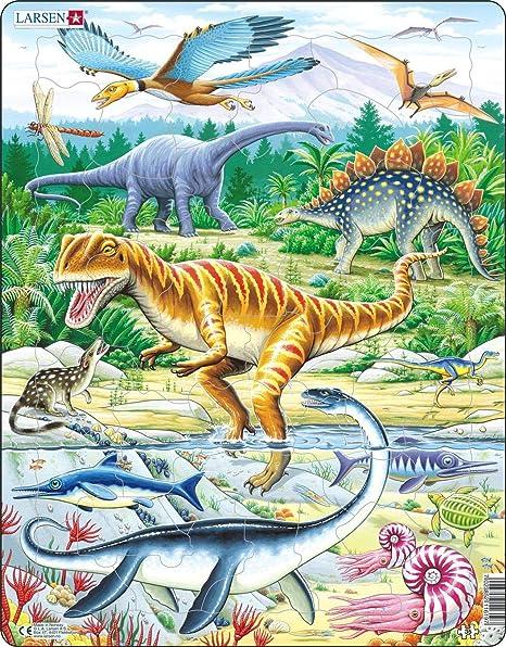 Larsen Dinosaur 65 Piece Children/'s Jigsaw Puzzle
