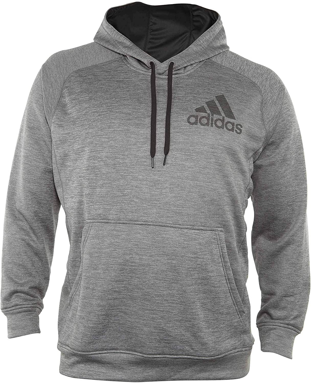 adidas Mens Team Issue Pullover Hoodie Dark Grey