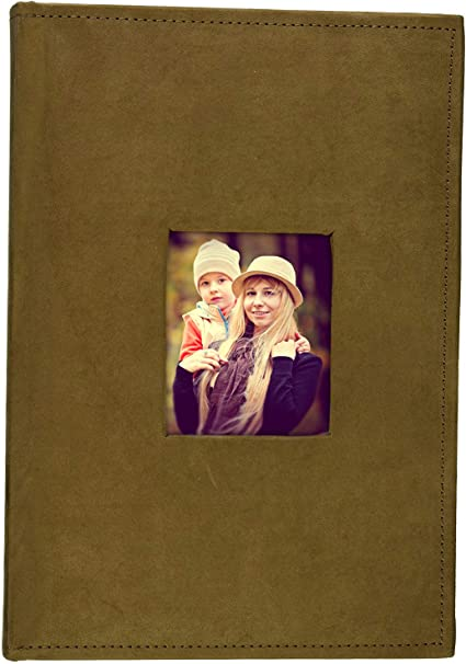 Holds 300 4x6 Pictures Golden State Art Photo Album Suede Cover Beige 3 per Page