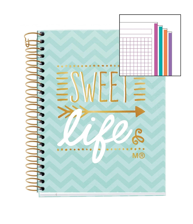 Miquelrius 46617 - Notebook sweet life (DIN A6, 105 x 148 mm, 140 hojas, 70 g/m², cuadrícula)