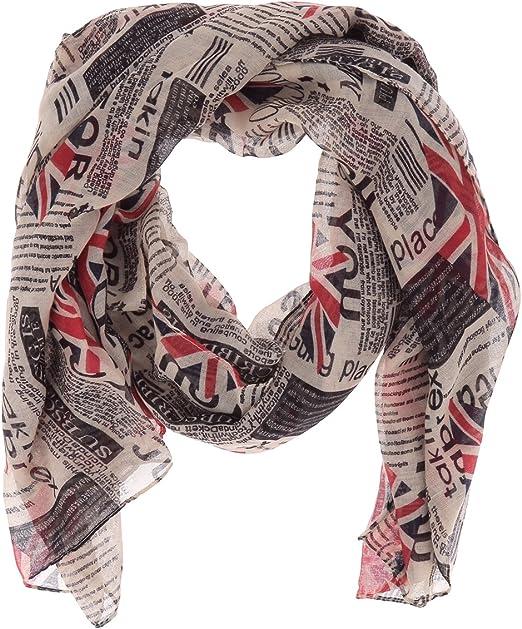 Union Jack Drapeau Britannique Viscose Large Femmes écharpe Châle Sarong avec défaut
