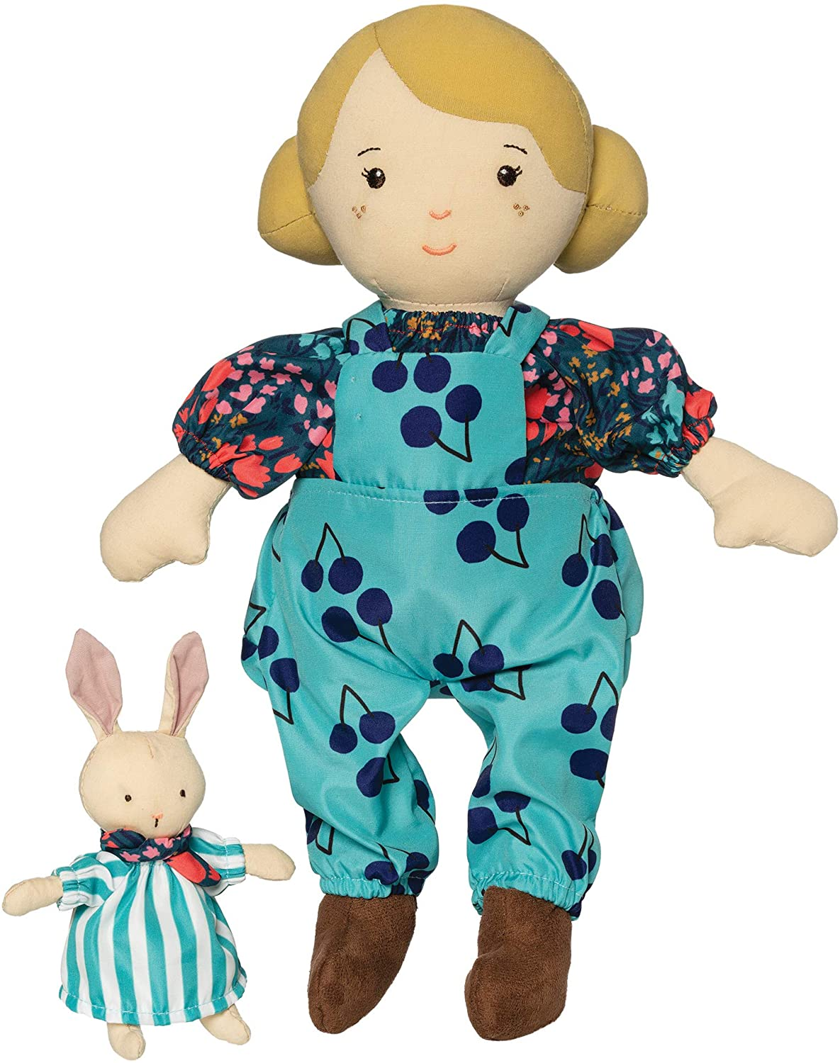 Manhattan Toy Playdate Friends Ollie Machine Washable and Dryer Safe 14 Inch Doll with Companion Stuffed Animal