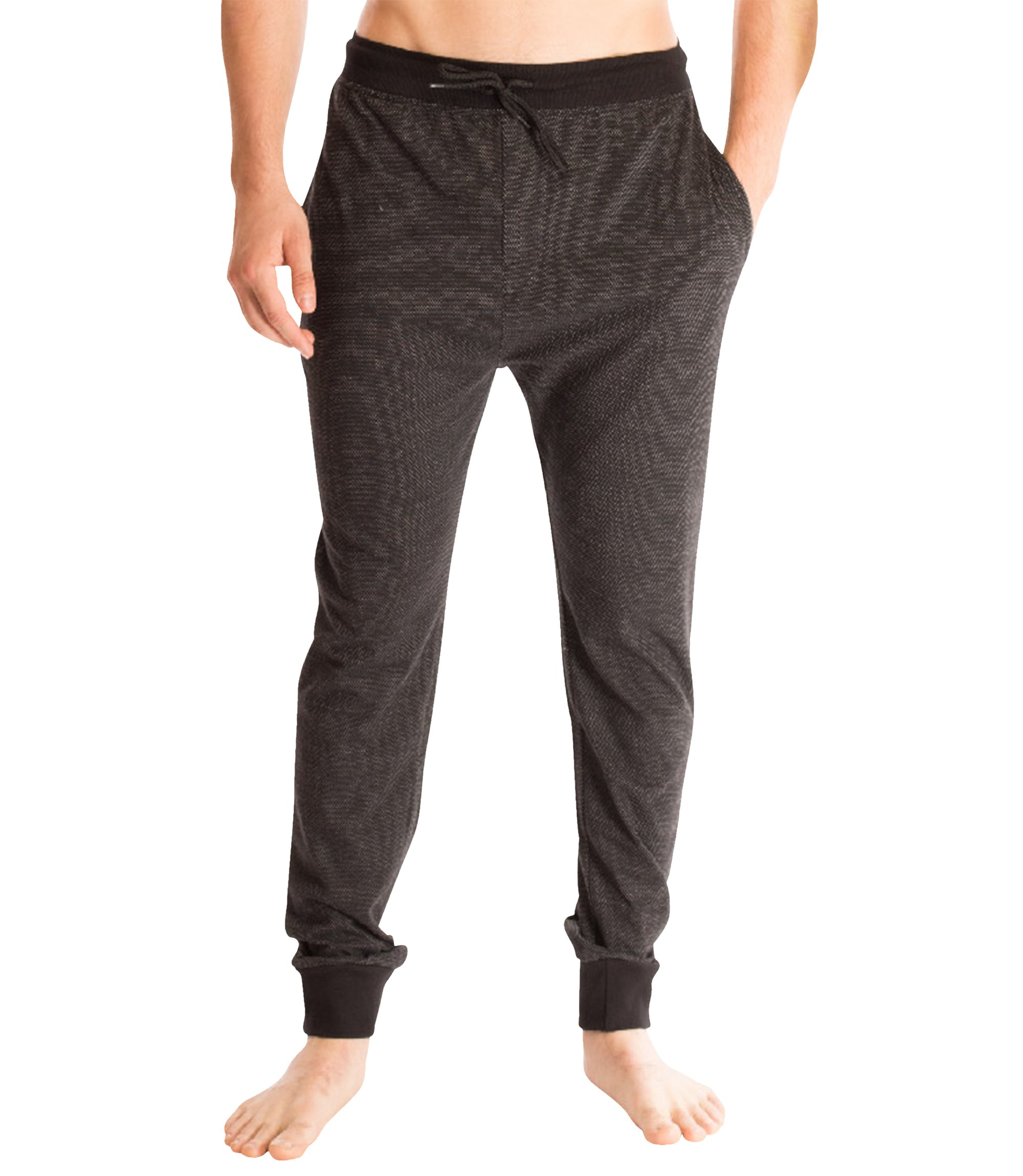 Bottoms Out Men's Comfortable Ankle Cuffed Fitted Flexible Pique Jogger Sweatpants for Men