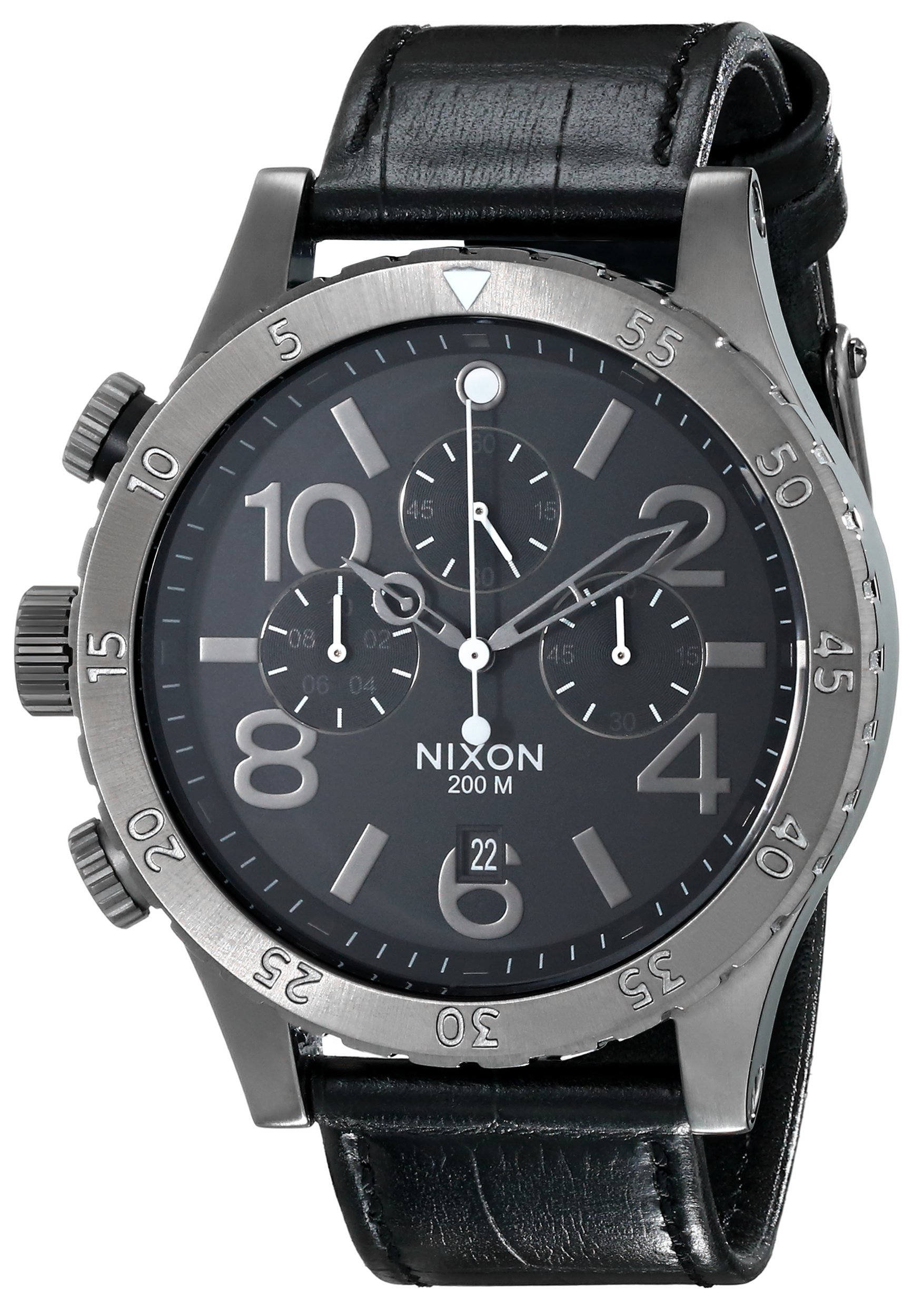 Nixon Men's A3631886 48-20 Chrono Leather Watch