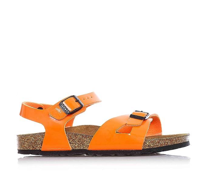 89b163e1057e BIRKENSTOCK - Orange sandal made of eco-friendly leather