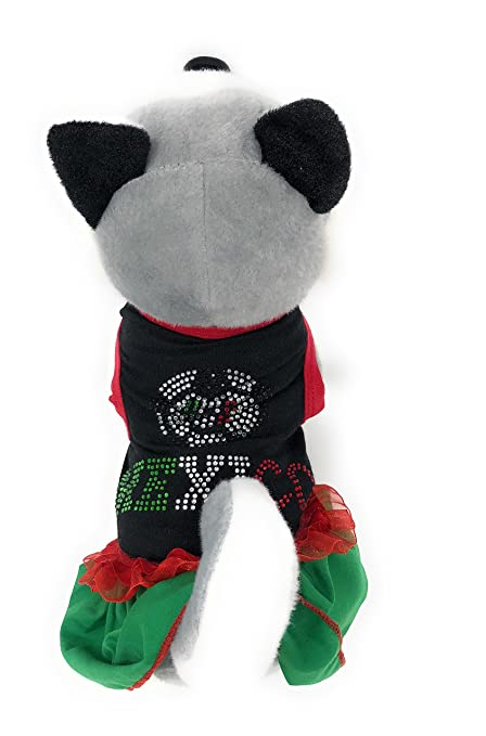 Xell Dog Clothes Mexico World Soccer Pet Dress for Small Dogs- Black/Green (