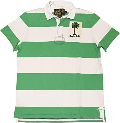 polo shirt green and white