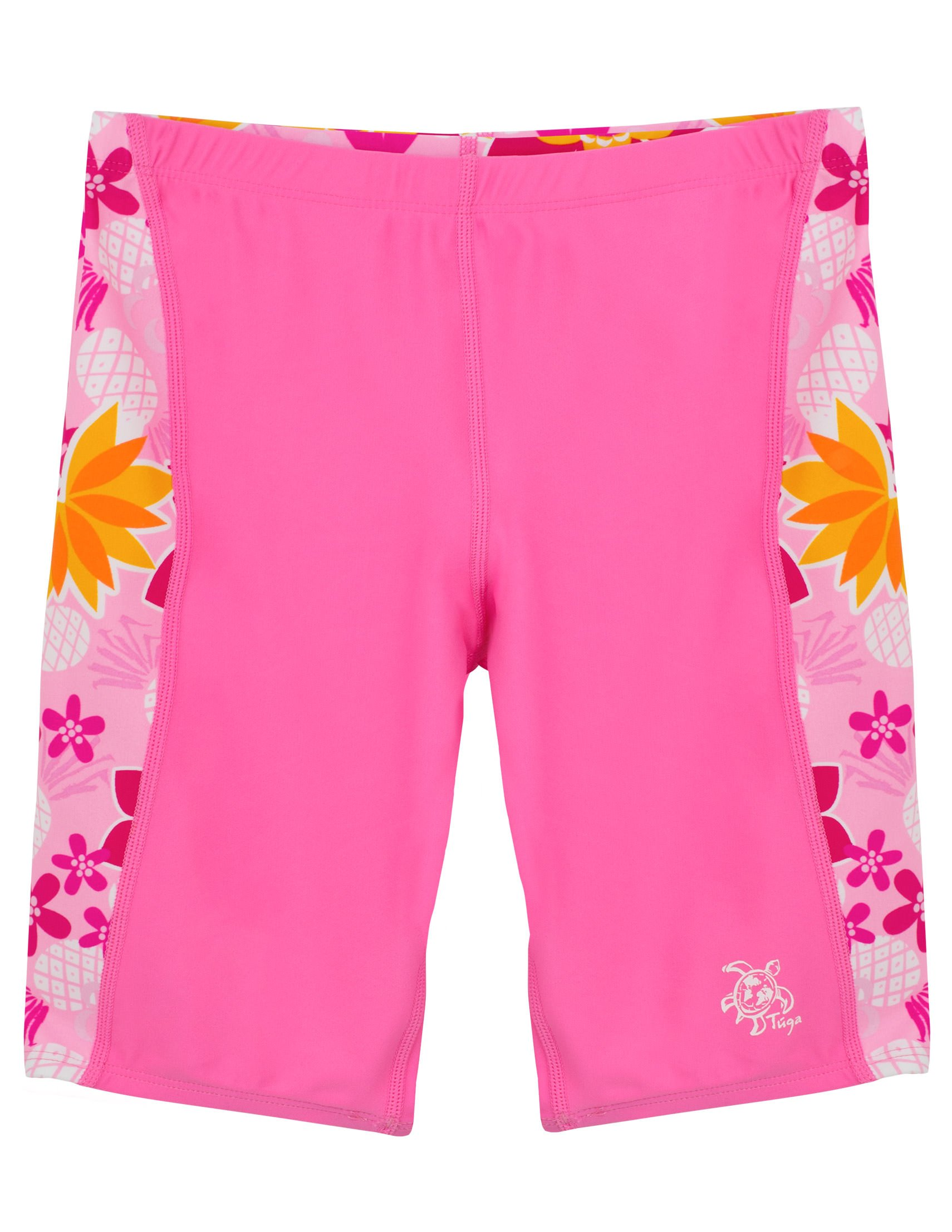 Tuga Girls Swim Jammer Short 2-14 Years, UPF 50+ Sun Protection Board Short