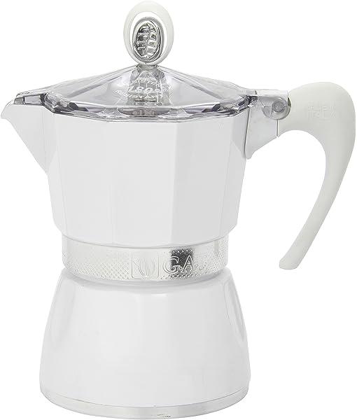 G.A.T. 2790000080 - Cafetera italiana, color Blanco: Amazon.es: Hogar