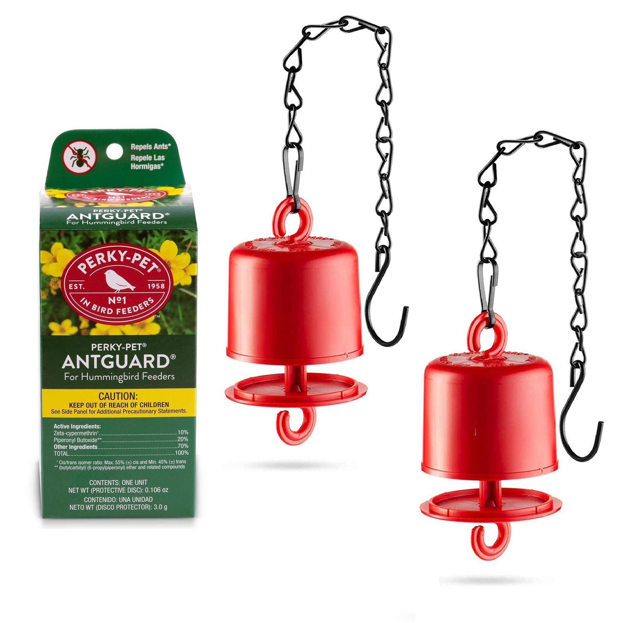 Perky Pet Ant Guard - Repels Ants, Bundled With Sewanta Bird feeder Chain [ 2 Pack ]