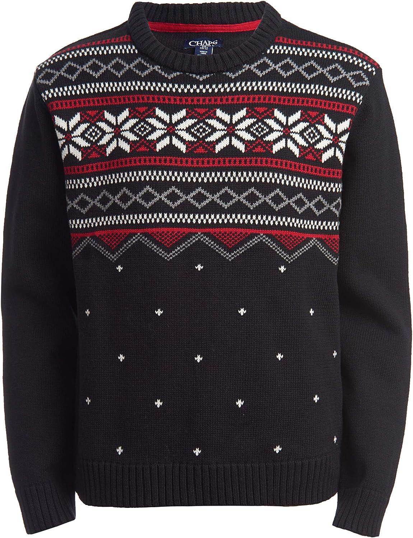 Chaps Boys Fair Isle Pullover Crewneck Sweater