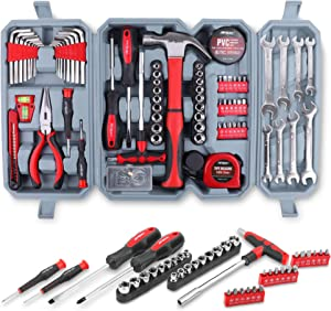 Hi-Spec 72 Piece Home & Garage Multi Tool Kit Set. Practical Hand Tools for DIY Repair & Maintenance in The Home, Garage and Workshop. All in a Swing-Door Carry Case