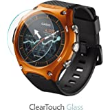 Casio WSD-F10 Screen Protector, BoxWave [ClearTouch Glass] 9H Tempered Glass Screen Protection for Casio WSD-F10