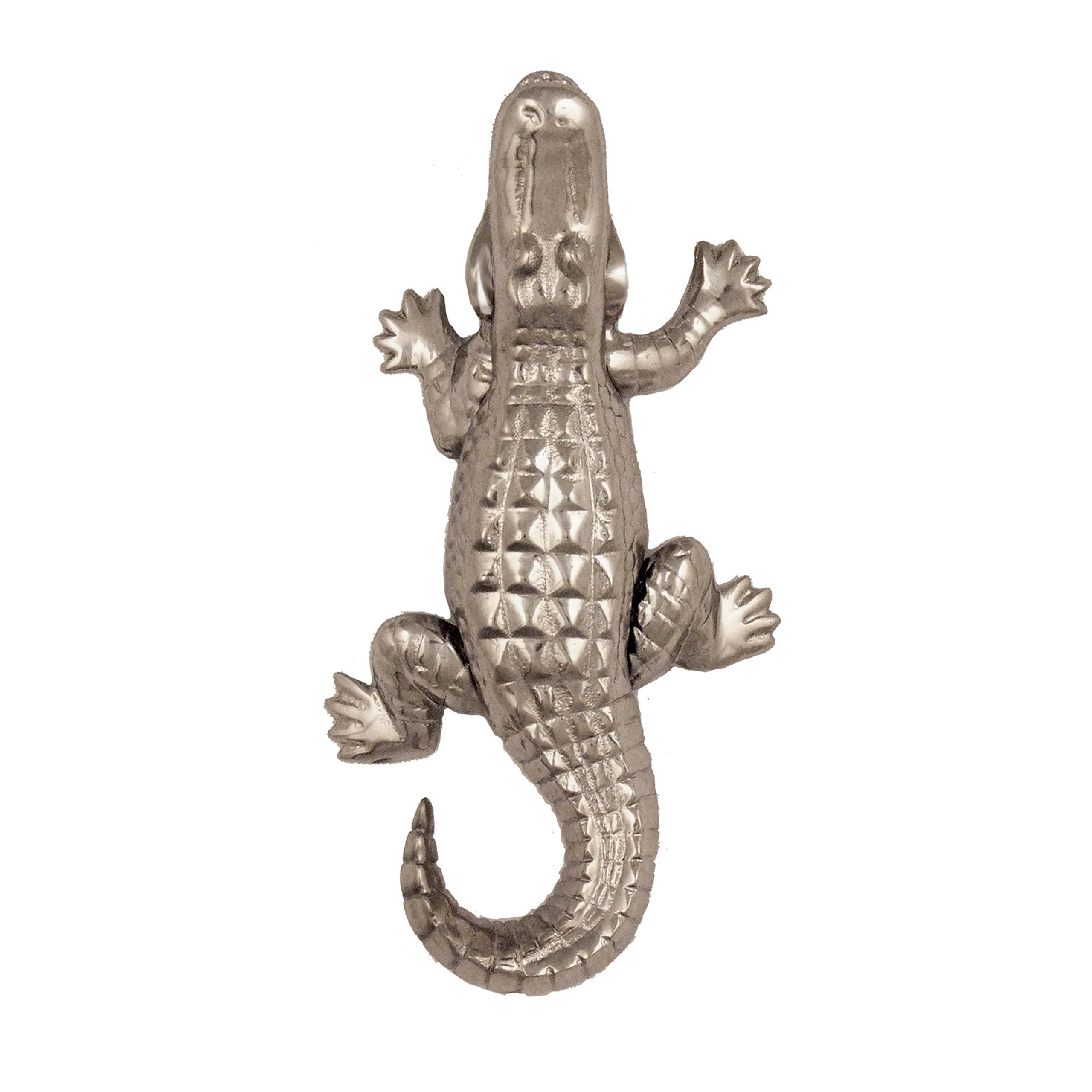 Alligator Door Knocker - Nickel Silver (Standard Size)