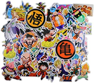 Dragon Ball Z Merchandise Stickers [100pcs] Anime Stickers Pack for Nintendo Switch Laptop Water Bottle Bike Car Motorcycle Bumper Luggage Skateboard Decal Best Gift for Kids