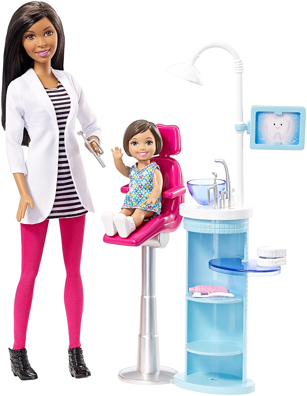 Amazon.com: Barbie Dentist Doll & Playset: Toys & Games