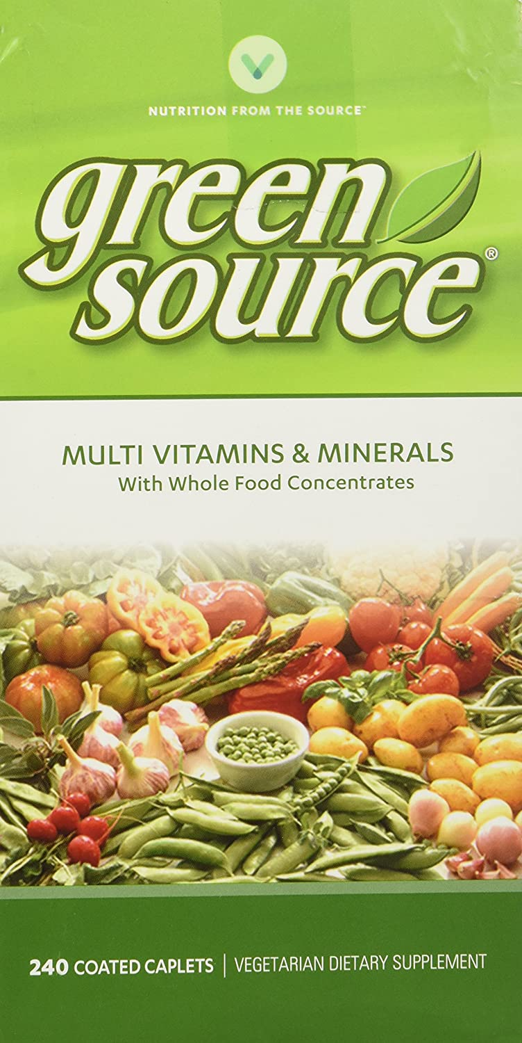 Vitamin World Green Source Multi Vitamins and Minerals, 240 Count