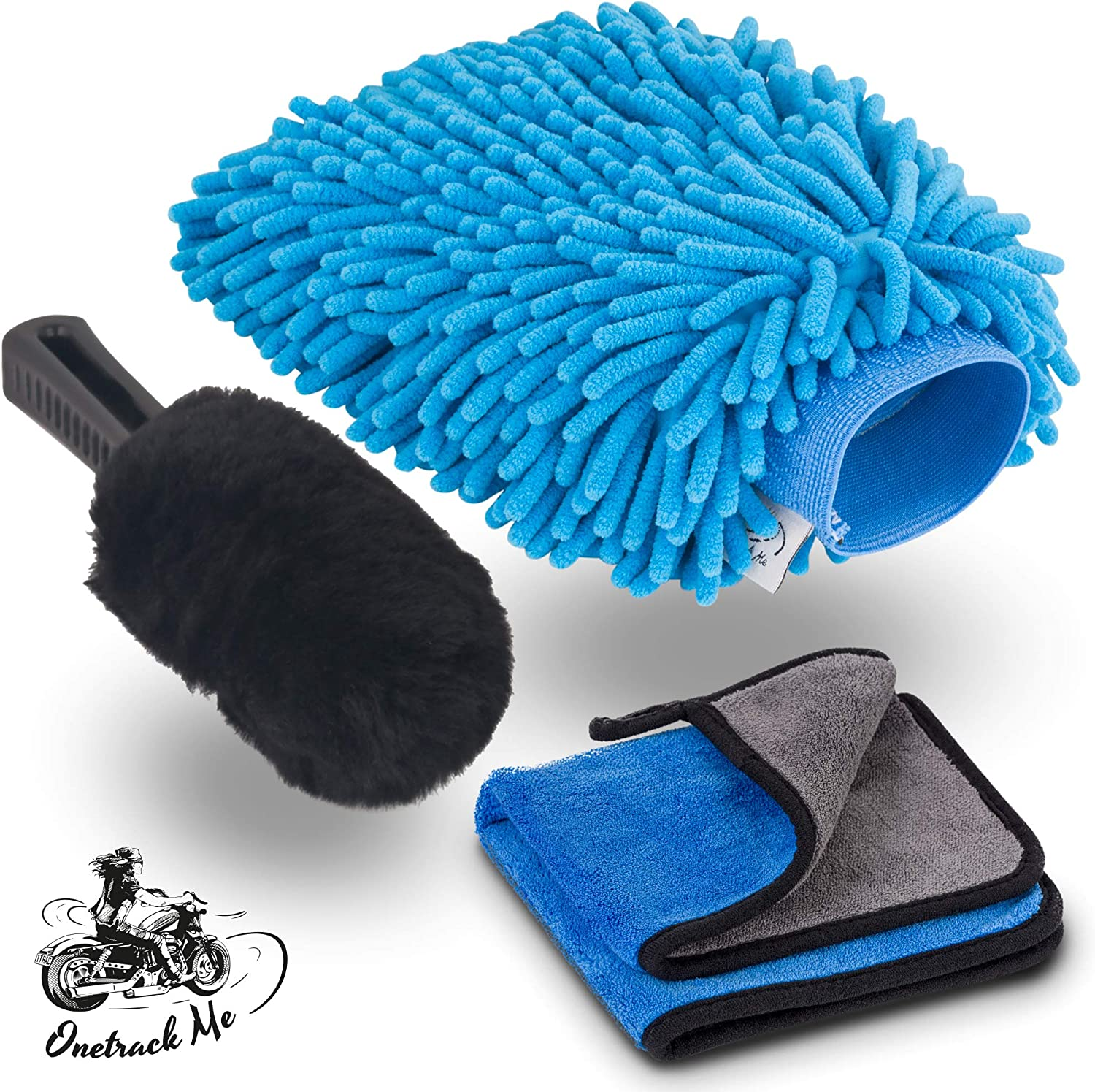 Car Wash Cleaning Glove Motorcycle Microfiber Washer Brush Cleaning Care Kits