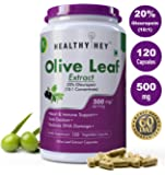 Healthyhey Nutrition Olive Leaf Extract 20% Oleuropein 500Mg - 120 Vegetarian Capsules