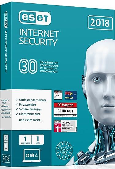 Amazon com: ESET Internet Security 2018 Edition 1 User  Für