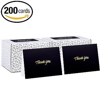 Amazon 200 thank you cards 100 x 2 packs black bulk note 200 thank you cards 100 x 2 packs black bulk note cards with colourmoves