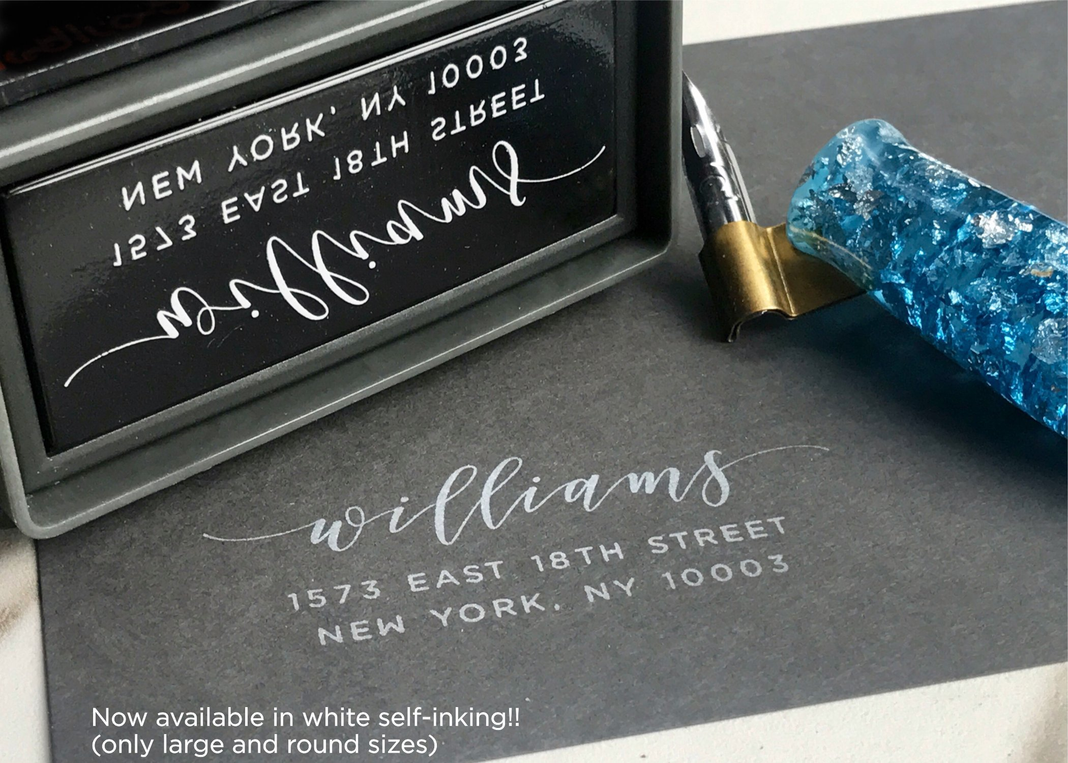 Self-Inking Return Address Stamp, Pre-Inked Custom Rubber Stamp, Anchor Graphic Wedding Invitation Stamp, Save the Date Stamp